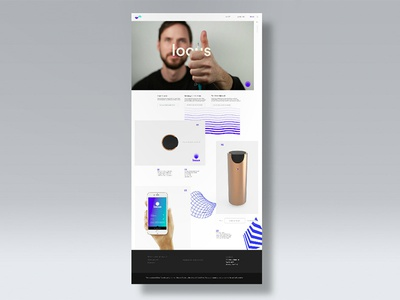 Locus Website landing page minimal product design interaction design ui-ux web design