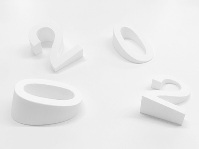Office Signage numbers typeexperiments type productdesign 3d