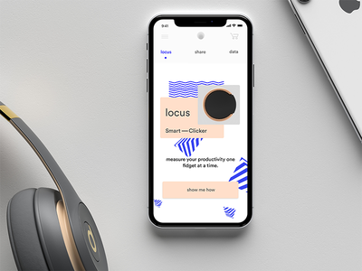 Locus App design fun minimal colors abstract product design ui smart object app