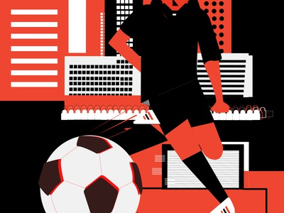 Fifa adidas crowd buildings city design daily illustration 2d fifa futbol soccer