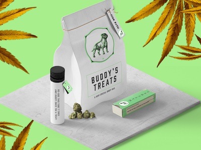 BUDDY: Cannabis Dispensary identity graphicdesign naturopathy herbal modern packaging marijuana retail design branding cannabis