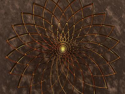 Sacred Geometry metallic gold floweroflife lines 3d cgi shapes geometry sacredgeometry