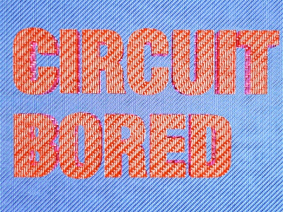 Circuit Bored detailed illustration tech cinema4d 3d cgi lettering type typography