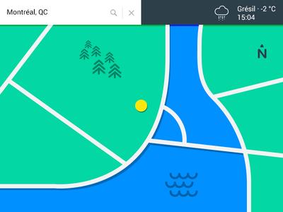 Map - Day 029 #DailyUi dailyui flat color map montreal google