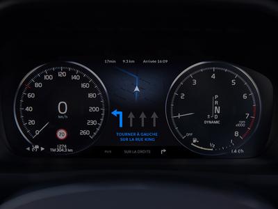 Car Interface - Day 034 #DailyUi car interface map blue dark interactivity gps car ui dailyui