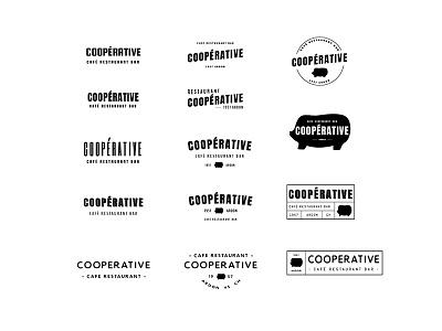 La Coopérative identity pig restaurant cafe wip logo branding