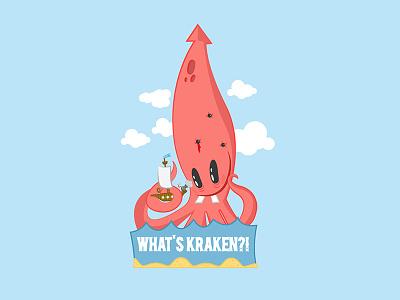 Whatskraken tshirts stickers illustration