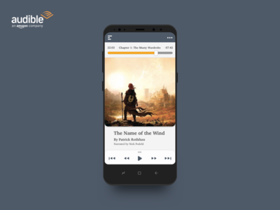 Minimal Audible Amazon Concept player audiobook s8 samsungs8 ux ui minimal