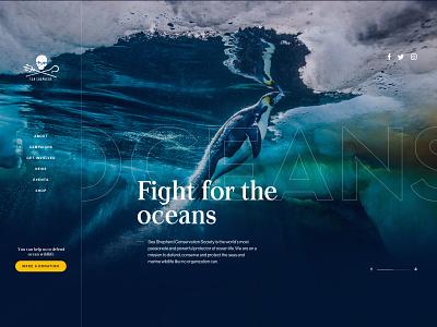 Sea Shepherd - Design Exploration design typography simple minimalist webdesign web website ui