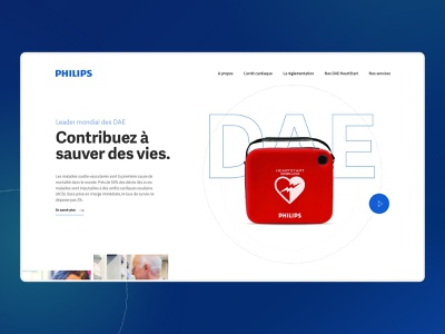 AEDs Philips - Website design typography simple minimalist webdesign web website ui