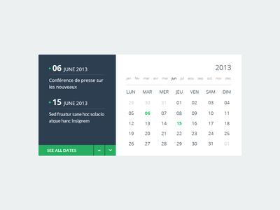 Flat Calendar Widget