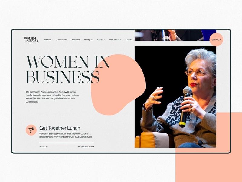 Women in Business - Homepage font design typography simple minimalist webdesign web website ui
