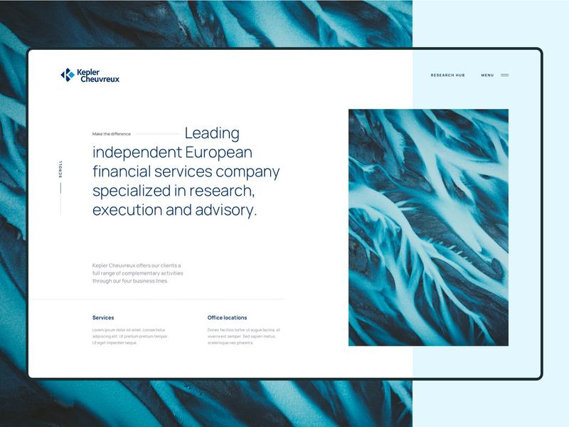 Visual Exploration for Homepage design minimalist webdesign web website ui