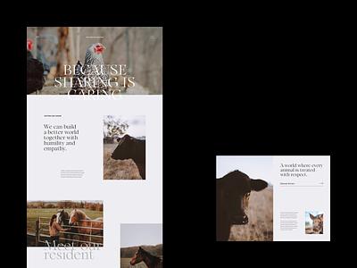 Animal Sanctuary Inner minimal font typography design simple minimalist webdesign web website ui