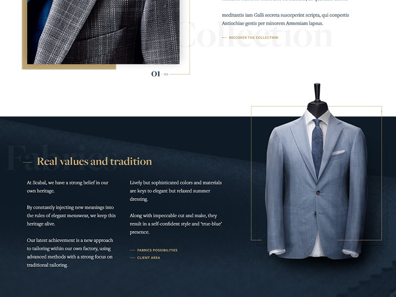 Luxury Suits classy typography font gold blue suits luxury