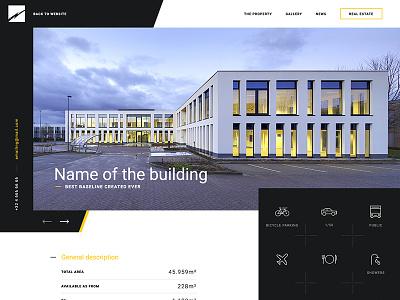 Building one page minimal contrast minimalist building
