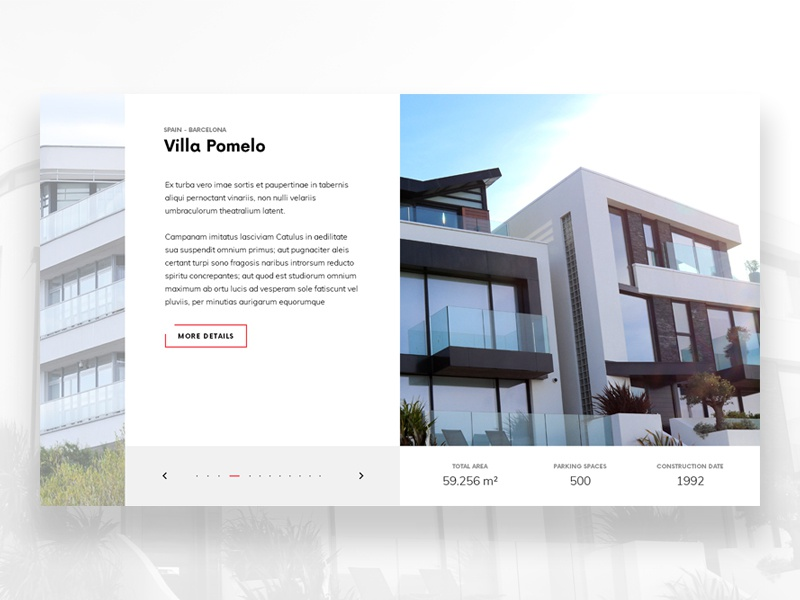 Real Estate Slider website architecture building webdesign web ui simple slider