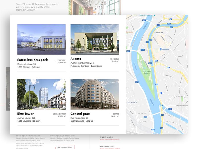 Real Estate Portfolio website webdesign web ui slider simple building architecture