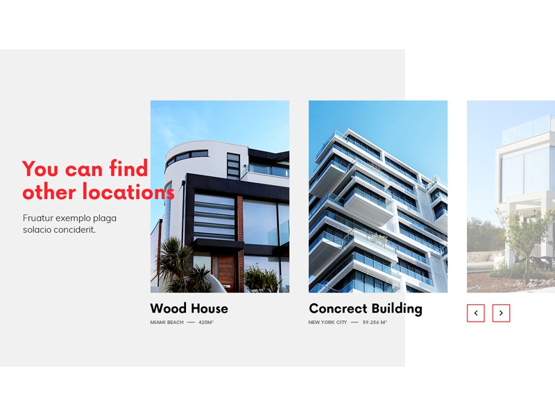 Find other locations website webdesign web ui simple building architecture