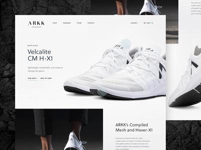 Arkk Concept sneaker shoes arkk minimalist web landing