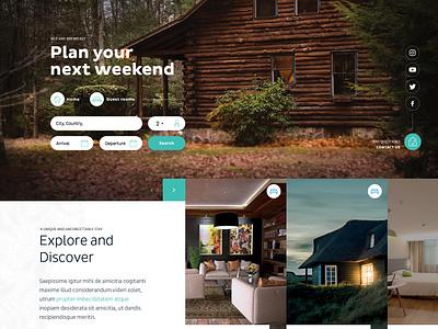 Sweet Home ux design minimalist website ui