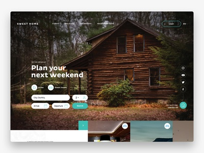 Sweet Home ux design minimalist website ui