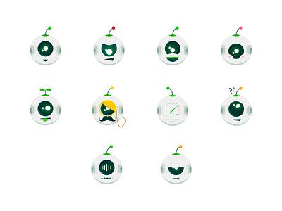 Chatbot mascot robot mascot logo vector illustration emotion chatbot