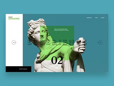 Experience - Slider minimalist ui font webdesign web website