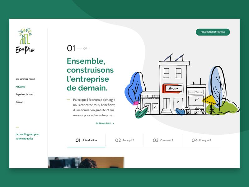 Ecopro - Website web slider illustration webdesign website ui