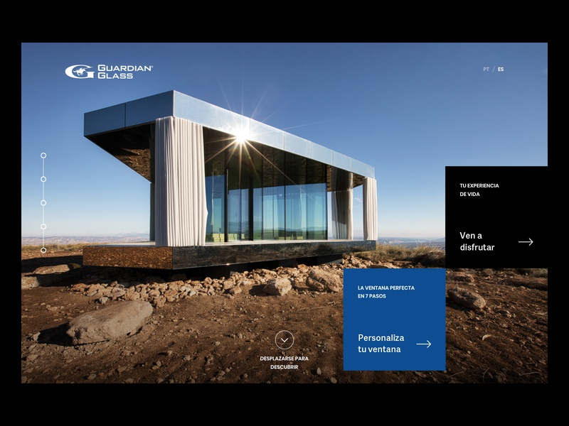 La Casa Del Desierto - Website building architecture webdesign minimalist website ui
