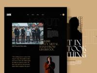About Page - Design Exploration design typography minimalist simple webdesign web website ui
