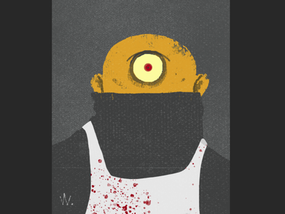Toby Gutzensplätz characterdesign freak cyclops portrait slasher halloween horror humor cartoon illustration