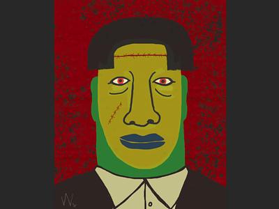 Franken Style frankenstein monster portrait halloween