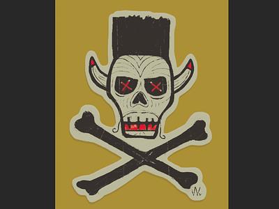 SK8 Skull Graphic graphic illustration art board graphics skateboard graphics skull and crossbones skull art dayofthedead skateboarding sticker skate
