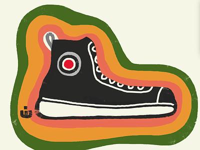 A Sneaker ( Funky Version ) street funky cartoon illustration high tops shoe shoes sneakers sneaker