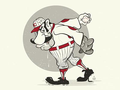 Spitball Pete brand character brand mascot advertising character cartoon illustration illustration baseball player cartoon mascot characterdesign minor league baseball sports mascot mascot