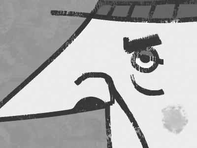 "Sal ""The Trash Man"" Garbaggio old man grouch grump vintage advertising character character design cartoon modern fedora upa style illustration cartoon"