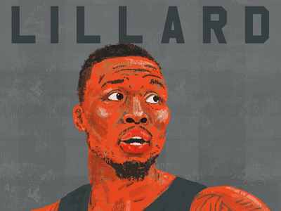 Damian Lillard nba all star all star portland rip city trail blazers sports illusration sports illustrated nba basketball player portrait lillard damian lillard