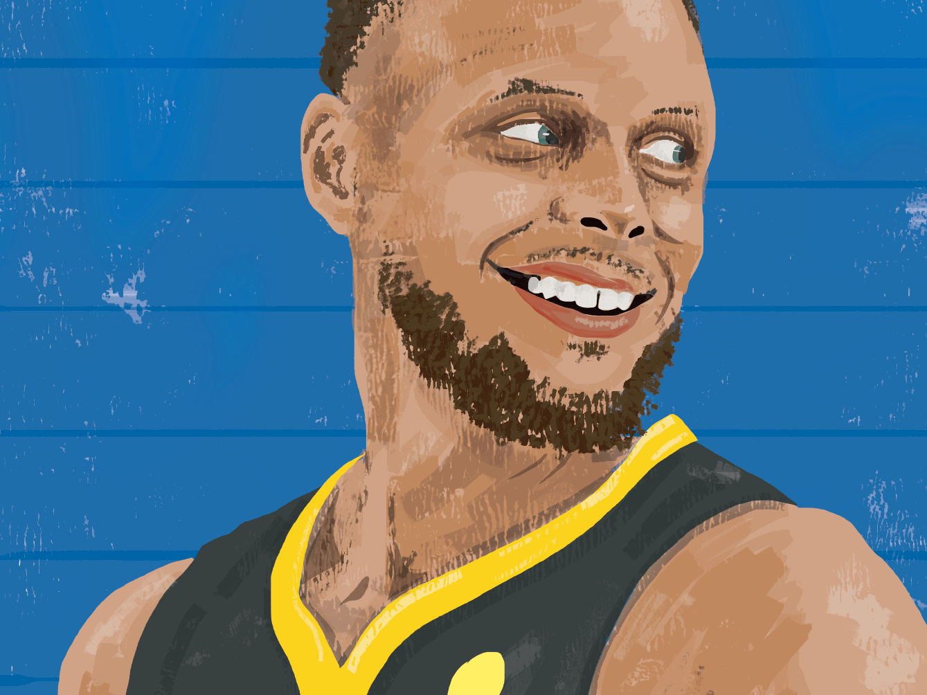 Steph Curry nba sports illustration portrait sports illustrated basketball warriors golden state warriors steph curry