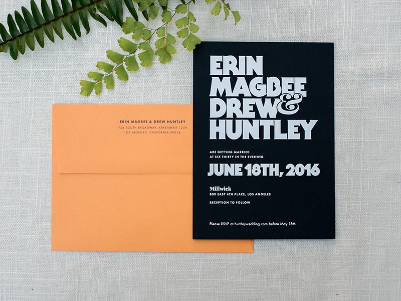 Wedding Invitation print paper wedding typography card invitation