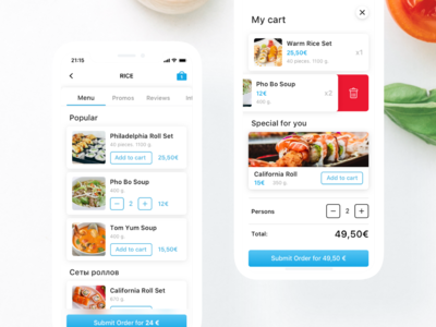 Food Ordering designs, themes, templates and downloadable