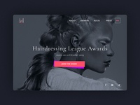 Hairdressing Awards Landing Page
