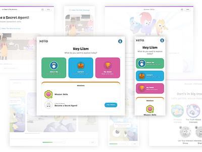 Xello Elementary Dashboard design students kids web mobile ux ui dashboard