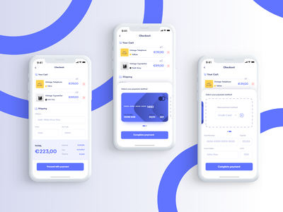 Daily UI #002 • Credit Card Checkout credit card checkout ux ui dailyuichallenge daily ui app