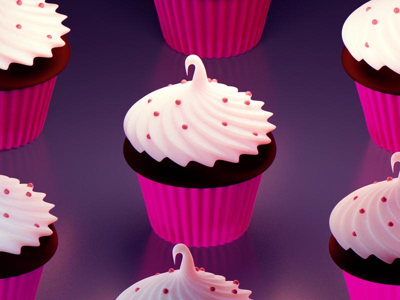 Cupcake frosting blender 3d cupcake