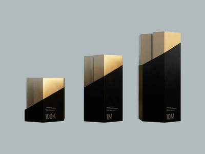Award Progression Concept 3d blender trophy