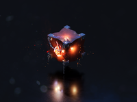 3D Fire Cube game blender art 3d