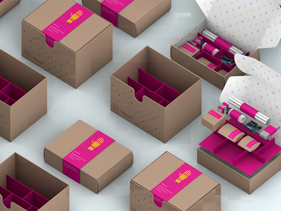 Lesson Kits 3d c4d design packaging