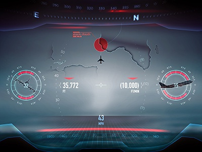 Primary Flight Display visor virtual reality storm primary flight display plane pfd navigation flight compass