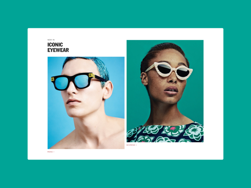 Shop Eyewear color clean ecommerce store house of holland shopify